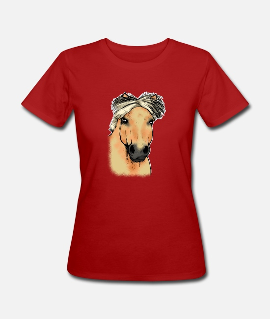 Horse T-Shirts - Fjord horse Norwegian horse head Funny gift - Women's Organic T-Shirt dark red