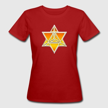Merkaba, spirituality, sacred geometry, light - Women's Organic T-Shirt