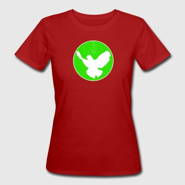 Dove of Peace - green - Frauen Bio-T-Shirt