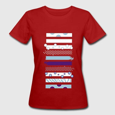 Stripes and patterns - Women's Organic T-Shirt