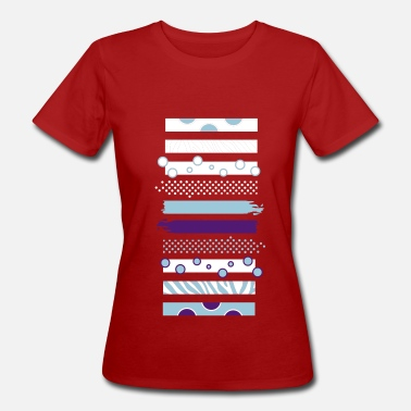 Stripe Pattern Stripes and patterns - Women's Organic T-Shirt