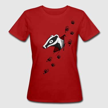 Badger with traces  - Women's Organic T-Shirt