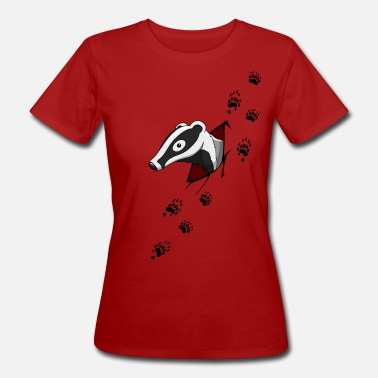 Badger Badger with traces  - Women's Organic T-Shirt