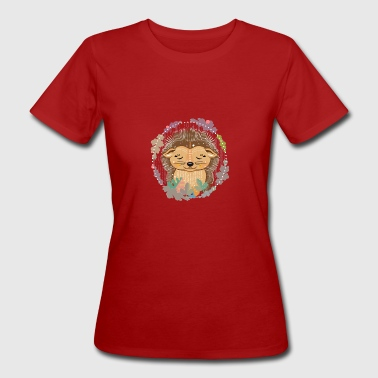 little cute hedgehog in hibernation - Women's Organic T-shirt