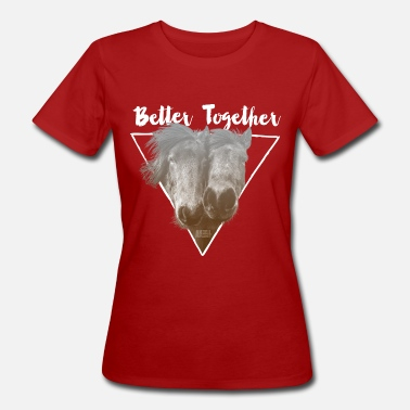 Ap16 Animal Planet Horses 'Better together' - Women's Organic T-Shirt