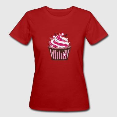 A cupcake with frosting - Women's Organic T-shirt