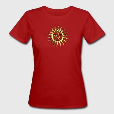 Pentagram - Blazing Star- Sign of intellectual omnipotence and autocracy. digital gold, Star of the Magi , powerful symbol of protection - Vrouwen Bio-T-shirt