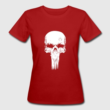 Skull long white - Women's Organic T-Shirt