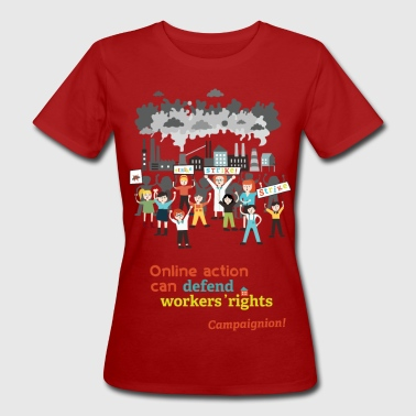 Workers' rights light - Frauen Bio-T-Shirt