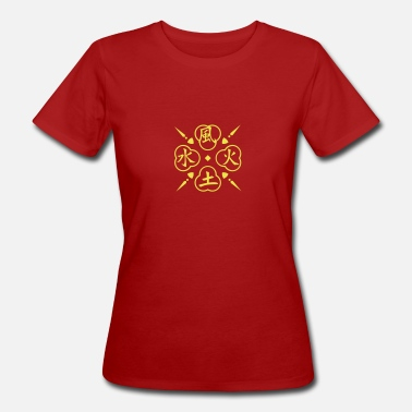 Four Elements Fire elementer / 4 elements (1c) - Økologisk T-shirt dame
