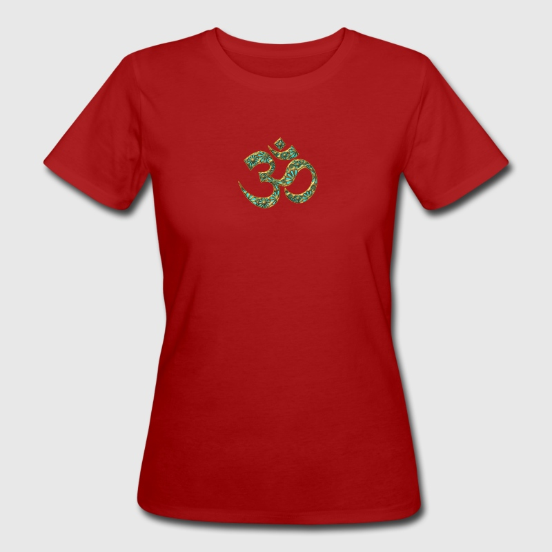 Sacred OM (AUM - I AM), turquoise, manifestation of spiritual strength, The energy symbol gives balance, peace and bliss - T-shirt bio Femme