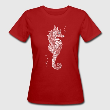 seahorse mandala drawing cute sea love you - Women's Organic T-shirt