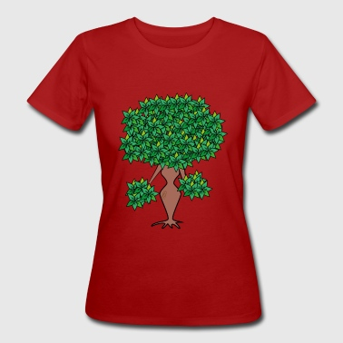 weiblicher Baum/female tree - Frauen Bio-T-Shirt