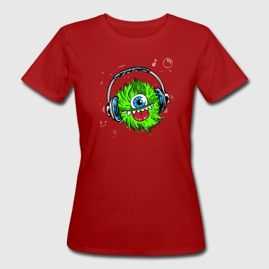 monster kopfhörer musik cool rap hiphop dance disc - Frauen Bio-T-Shirt