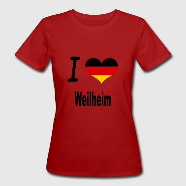 I Love Germany Home Weilheim - Frauen Bio-T-Shirt