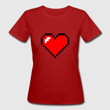 pixel heart - Women's Organic T-shirt