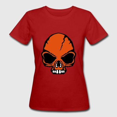 scary death head halloween open mouth - Women's Organic T-shirt