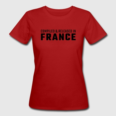 Compiled & Released in France - Women's Organic T-shirt