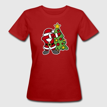 Dabbin' around the Christmas tree - Camiseta ecológica mujer