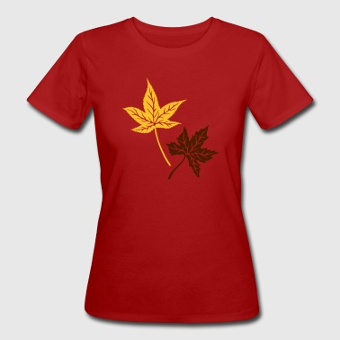 Maple, autumn, leaves, maple leaves - Women's Organic T-shirt