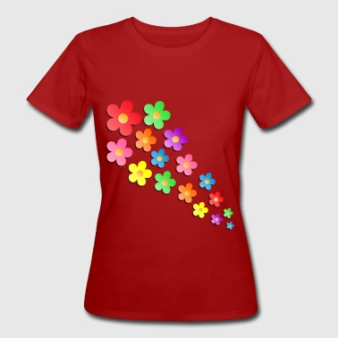 Flower Power - Frauen Bio-T-Shirt