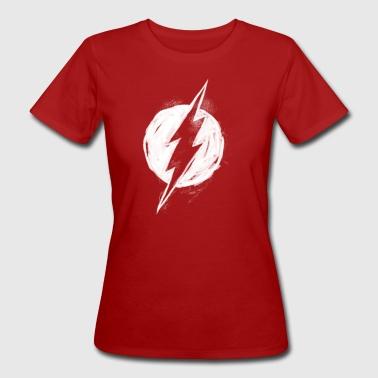 The Flash white milk Logo - Ekologisk T-shirt dam