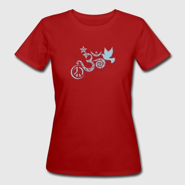 Om Peace and Fly to the Stars - T-shirt bio Femme