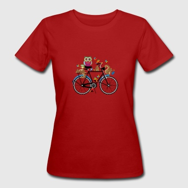 forest animals on a bike  - Women's Organic T-shirt