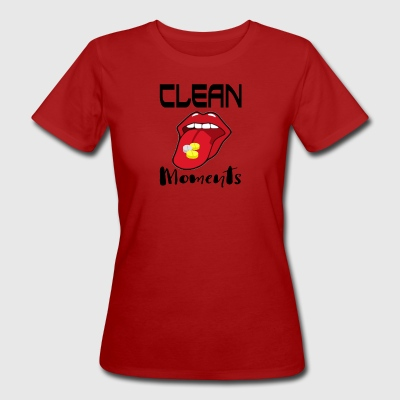 CLEAN MOMENTS - Vrouwen Bio-T-shirt