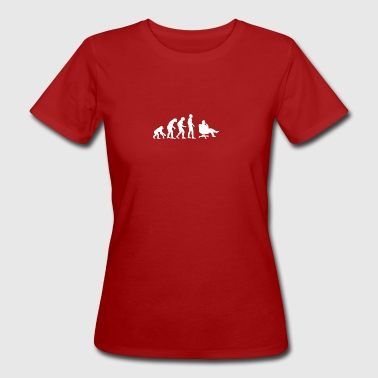 Evolution Business, Büro, Chef, Sessel - Frauen Bio-T-Shirt