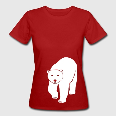 polar bear ice black white penguin knut climate change stop global warming - Women's Organic T-shirt