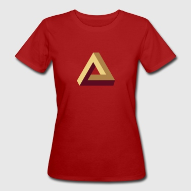 Impossible Triangle, optical illusion, Escher, tri - Women's Organic T-shirt