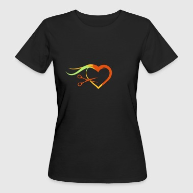 Barber scissors with a strand of hair - Women's Organic T-shirt