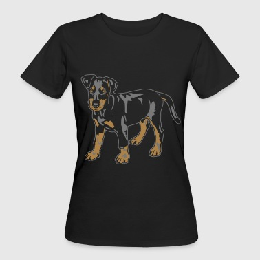 Dobermann Pinscher Black Puppy - Ekologisk T-shirt dam