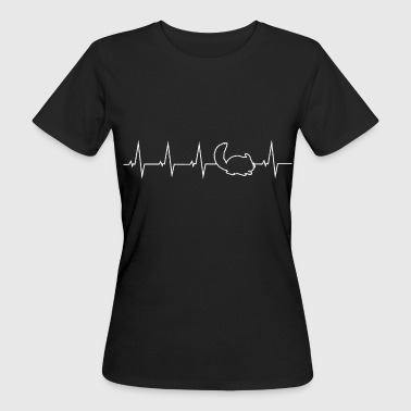 I love Chinchilla - heartbeat - Women's Organic T-Shirt