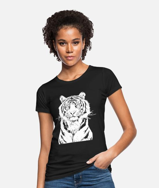 Predator T-Shirts - White Tiger - Women's Organic T-Shirt black