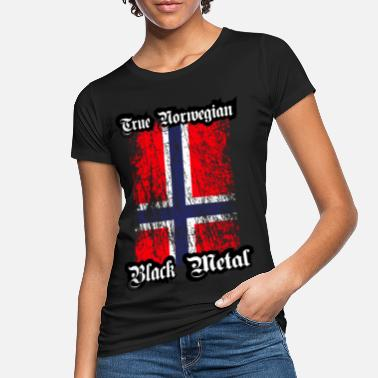 Black Metal Trve / True Norwegian Black Metal - Økologisk T-shirt dame