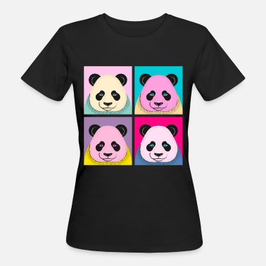 Panda Pop Art Panda - Frauen Bio-T-Shirt