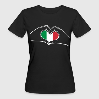 I love Italy - heart hands - Women's Organic T-shirt