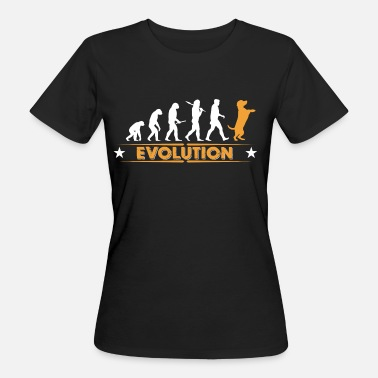 Evolution Dog evolution - orange/white - Women's Organic T-Shirt