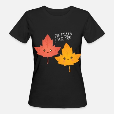 I've Fallen For You - Cute Leaf Love Couple - T-shirt ecologica da donna