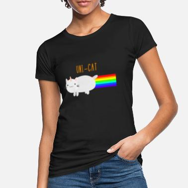 Nyan Cat Nyan Cat as unicorn - unicorn cat with rainbow - Women's Organic T-Shirt