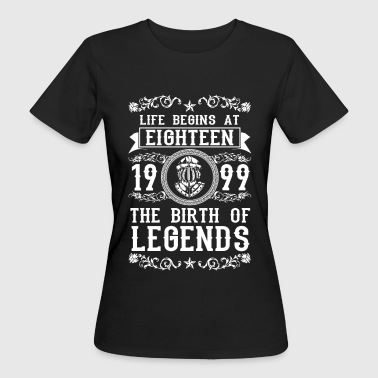 1999- 18 years - Legends - 2017 - T-shirt bio Femme