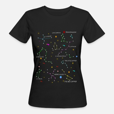 Sternenhimmel Konstellationen - Frauen Bio-T-Shirt
