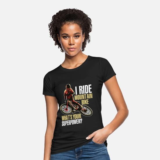Bike Messenger T-Shirts - i ride montain bike - Women's Organic T-Shirt black