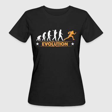 American Football - Evolution orange/weiss - Camiseta ecológica mujer
