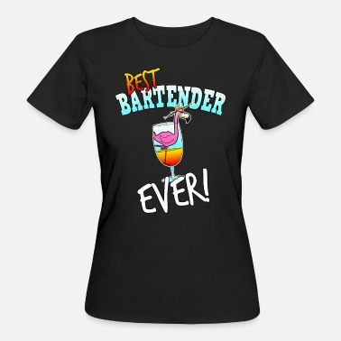 Cocktail Bartender Bartender Best Bartender Cocktails Flamingo Comic - Women's Organic T-Shirt