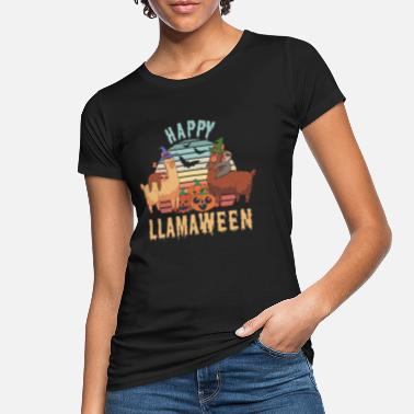 Llama Happy Halloween Alpaca Sloth Gift - Women's Organic T-Shirt