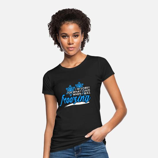 Gift Idea T-Shirts - winter - Women's Organic T-Shirt black
