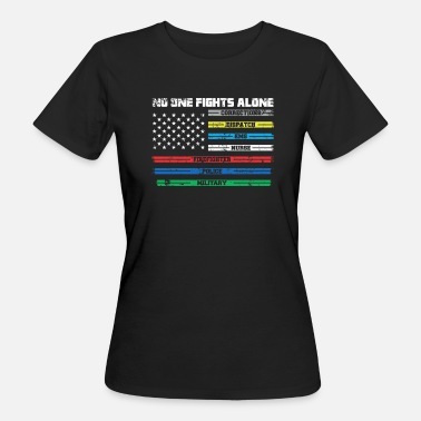 First Responders Gift for first responders usa flag - Women's Organic T-Shirt